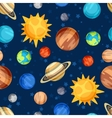 Cosmic seamless pattern with planets of the solar vector image vector image