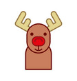 cute reindeer isolated icon vector image