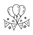 decor icon doddle hand drawn or black outline vector image