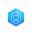 dental insurance protection icon vector image vector image