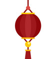 dragon chinese lantern icon flat isolated vector image vector image