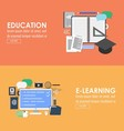Education and elearning banner vector image vector image