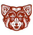 Ethnic ornamented red panda vector image vector image