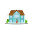 flat icon of three-storey house with big vector image vector image