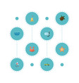 flat icons tortoise sea aqualung and other vector image vector image