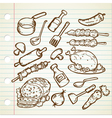 FOOD AND COOKWARE vector image vector image