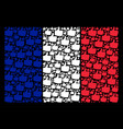 french flag mosaic of thumb up items vector image