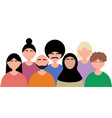 friendship peoples world men from vector image vector image