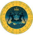 Gemini with the signs of the zodiac vector image vector image