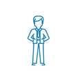 general manager linear icon concept general vector image vector image