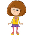 girl character cartoon vector image vector image
