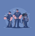 group of police man and woman vector image vector image
