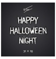 Halloween author designed lettering vector image vector image
