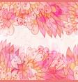 hand drawn seamless pink invitation card vector image vector image