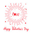 happy valentines day love word red heart round vector image vector image