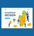 isometric investment solutions for income growth vector image vector image