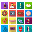 leisure trade travel and other web icon in flat vector image vector image