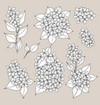 lilac hand drawing set of vector image vector image