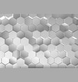 metallic hexagonal background vector image
