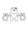 mom bear and son daughter vector image