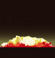 night sky city glow vector image vector image