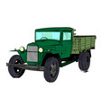 old lorry car vector image