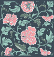ornamental colored antique floral pattern vector image vector image