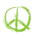 Peace Sign Brushed vector image