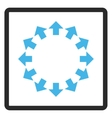 Radial Arrows Framed Icon vector image