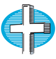 Religious cross vector image vector image