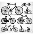 retro bikes vector image vector image