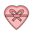 romantic gift box vector image vector image