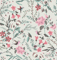 Seamless fairy floral pattern vector image vector image