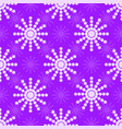 seamless pattern of white snowflakes on a violet vector image vector image
