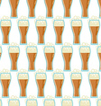 Seamless pattern with glasses of beer vector image