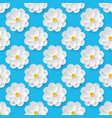 seamless pattern with paper flowers vector image