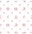 seed icons pattern seamless white background vector image vector image