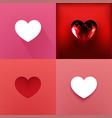 set hearts valentine day vector image