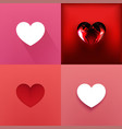 set of hearts valentine day vector image vector image