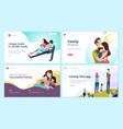 set of web page design templates for vector image vector image