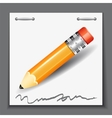 Small pencil on the paper sheet background vector image vector image