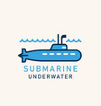 submarine with a periscope vector image vector image
