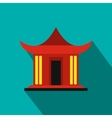 Traditional Chinese House icon flat style vector image vector image