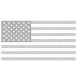 usa dotted flag file for easy vector image vector image