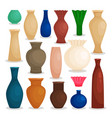 vases colorful icons set vector image