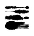 watercolor blotter brushes set vector image vector image