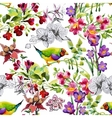 Watercolor hand drawn seamless pattern with vector image vector image