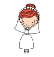 wife character isolated icon design vector image