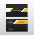 yellow and black elegant business card design vector image vector image