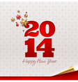 New 2014 year holidays design vector image